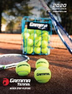2020 GAMMA Sports Online Tennis Catalog