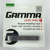 "GAMMA Lead Tape - Racquet Weighting Tape - 0.50"" x 36"""
