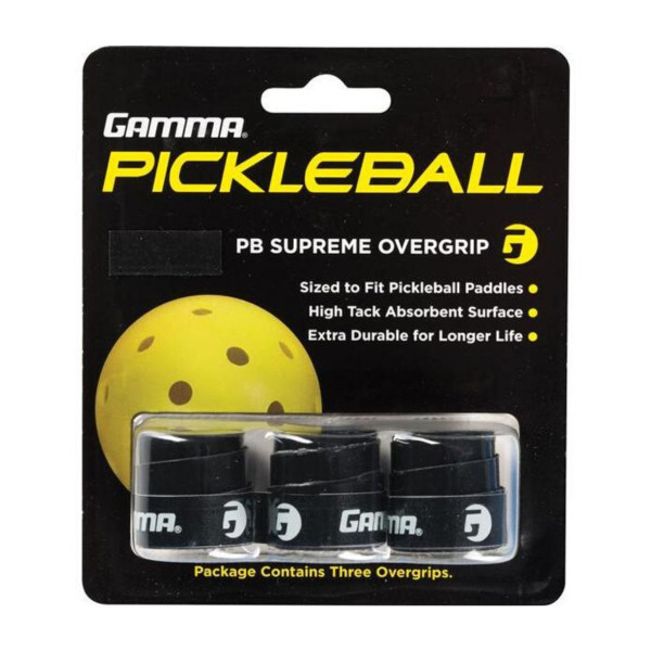 3 Pack of Black Pickleball Supreme Grip