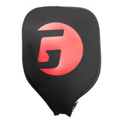 GAMMA Sports Pickleball Paddle Cover - Black with Red GAMMA G Logo