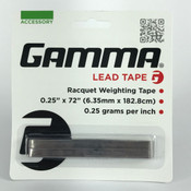 "GAMMA Lead Tape - Racquet Weighting Tape - 0.25"" X 72"""
