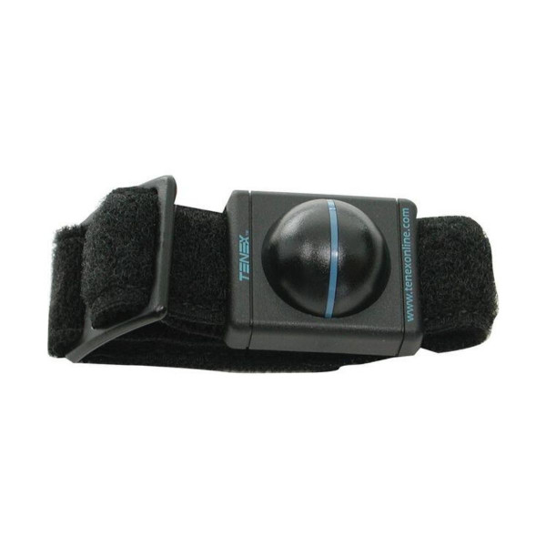 Black Tenex Elbow Shock Watch with Blue Lettering - Horizontal