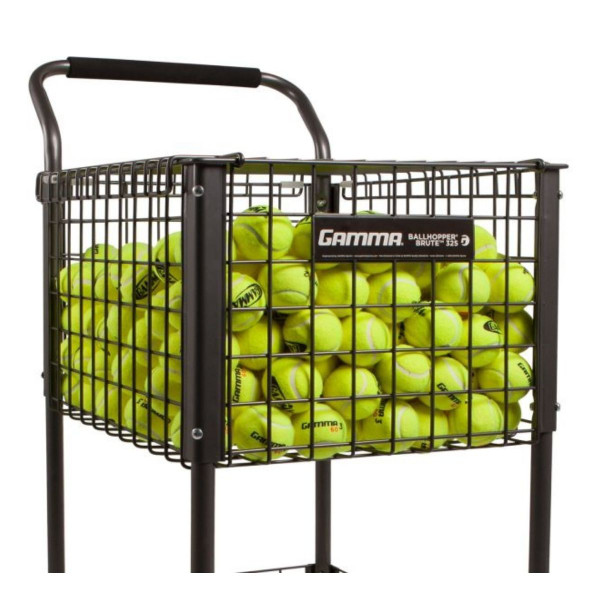 GAMMA Brute 325 Teaching Cart filled with tennis balls.