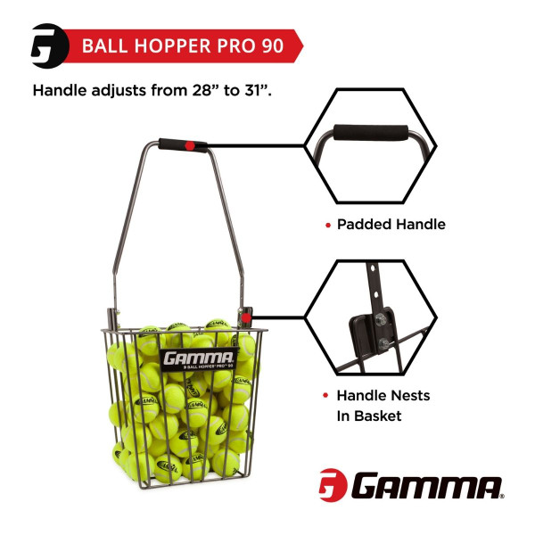 Ball Hopper Pro 90 has a padded handle.