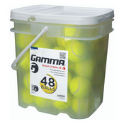 Bucket-O-Balls Containing 48 Yellow Pressureless Tennis Balls