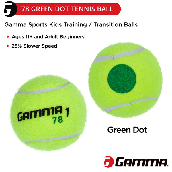 Two 78 Green Dot Balls with short description on image.