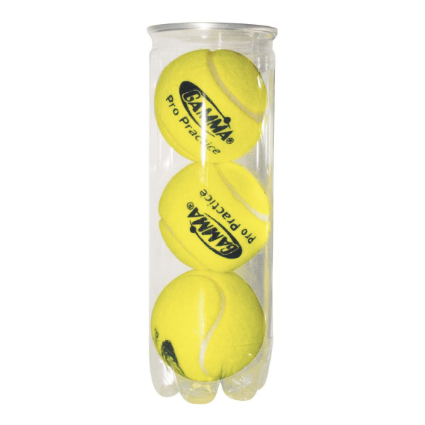 Clear Can Containing 3 GAMMA Pressurized Tennis Balls