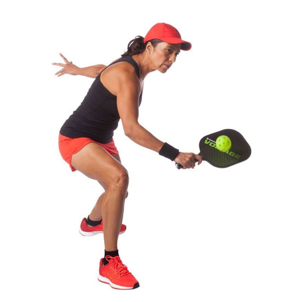 Player Hitting a Photon Indoor Pickleball