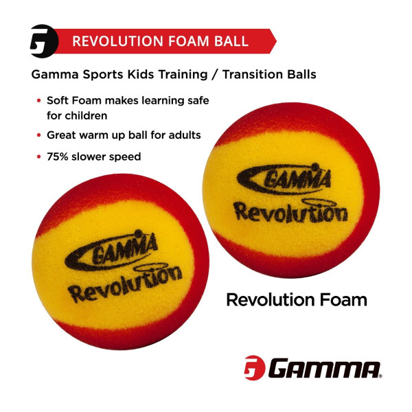 Benefits of GAMMA Revolution Foam Ball