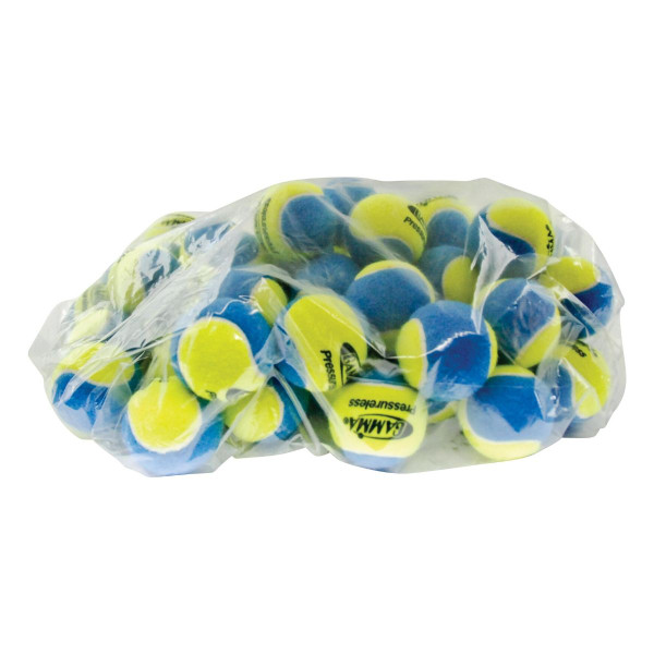 60 Blue & Yellow GAMMA Pressureless Practice Balls In A Clear Plastic Bag
