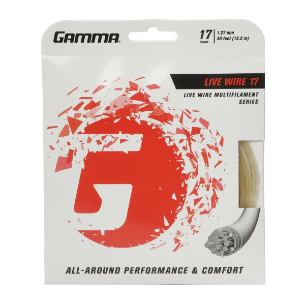 GAMMA Live Wire Professional Multifilament Tennis String 17G