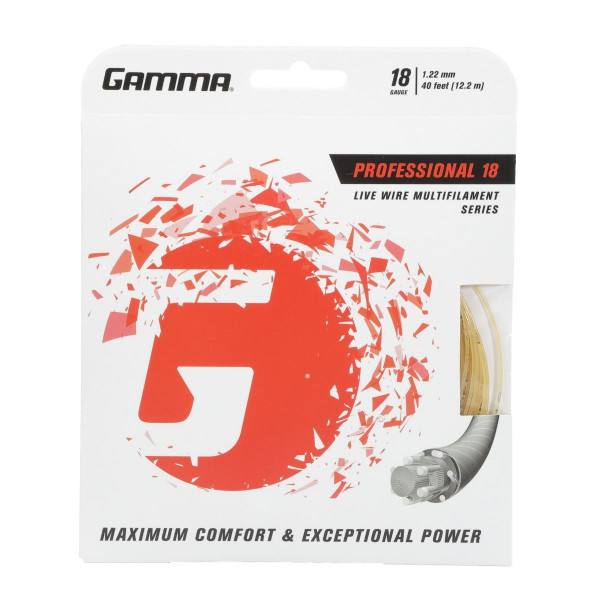 GAMMA Live Wire Professional Multifilament Tennis String 18G