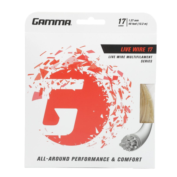 GAMMA Live Wire Tennis String 17G in packaging