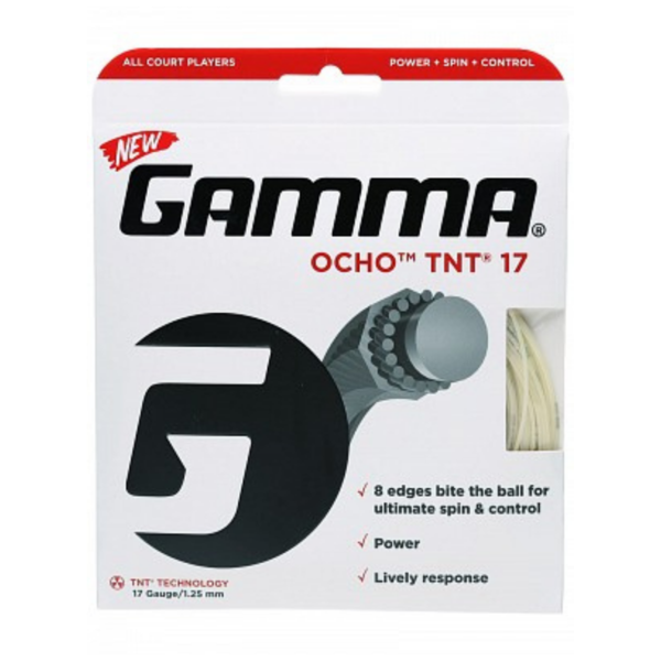 GAMMA Ocho TNT Tennis String 17G in packaging