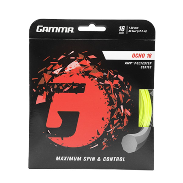 Yellow GAMMA Ocho 16G Tennis String