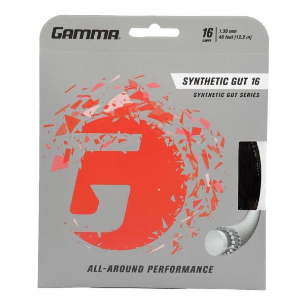 Black GAMMA Synthetic Gut 16 Gauge in packaging