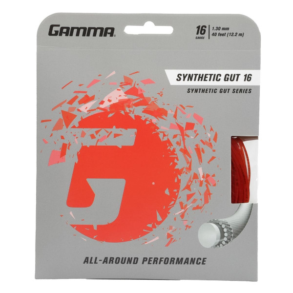 Red GAMMA Synthetic Gut 16 Gauge in packaging