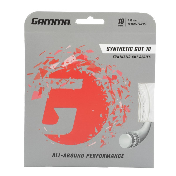 White GAMMA Synthetic Gut 18 Gauge in packaging