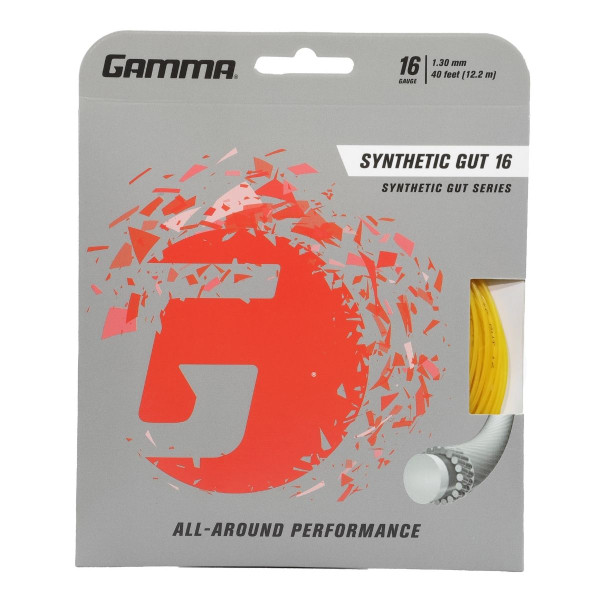 Yellow GAMMA Synthetic Gut 16 Gauge in packaging