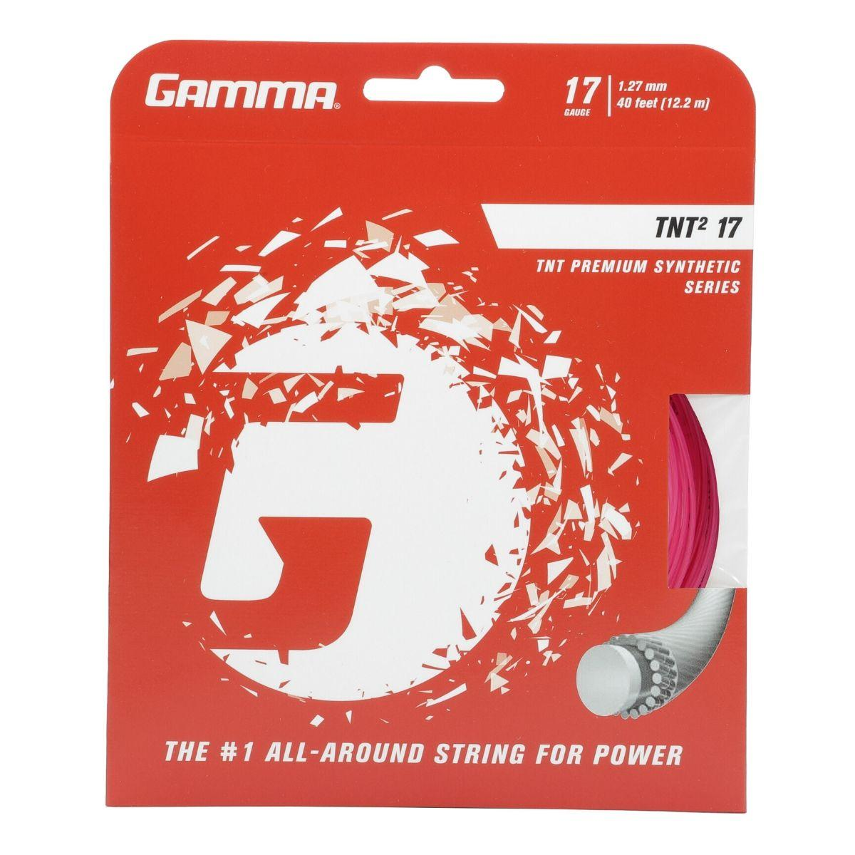 Spin 17 Gamma Sports AMP Jet Tennis Racket String Polyester Series- Twisted Ribbed Shape Delivers Maximum Ball Bite or 18 Gauge Black, Blue, Lime 16L and Control with Greater Ball Pocketing