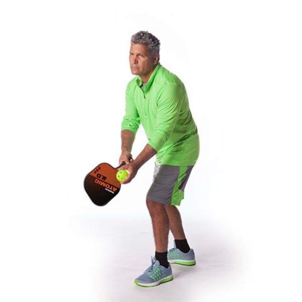 Man Serving Ball with Atomic 2.0