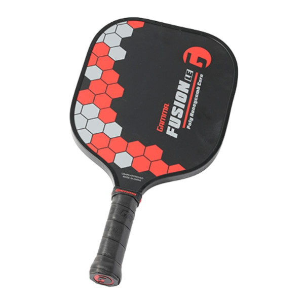 Red GAMMA Fusion LE Pickleball Paddle tilted right