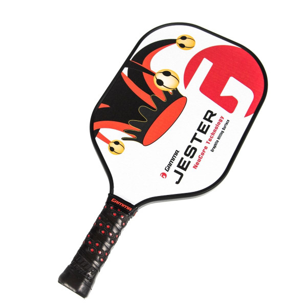 Red Jester Pickleball Paddle - tilted right