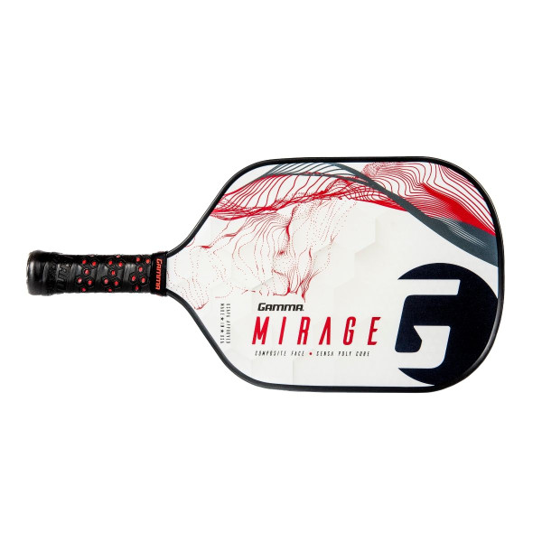 Red and Black GAMMA Mirage Pickleball Paddle horizontal view