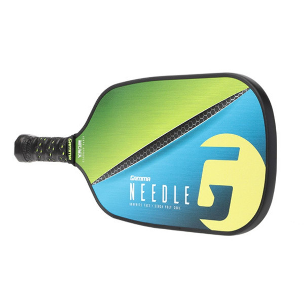 Green Elongated GAMMA Needle Pickleball Paddle horizontal view
