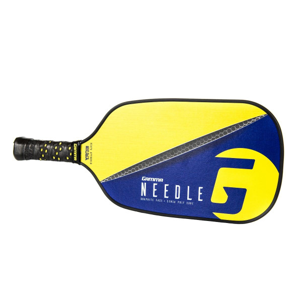 Purple Elongated GAMMA Needle Pickleball Paddle horizontal view