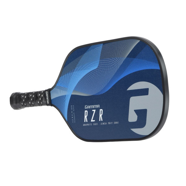 Blue RZR Pickleball Paddle horizontal view