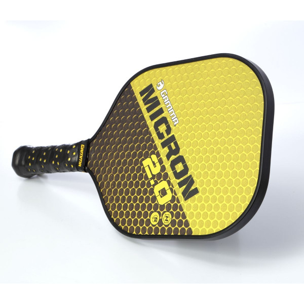 Yellow & Black GAMMA Micron 2.0 Pickleball Paddle horizontal view
