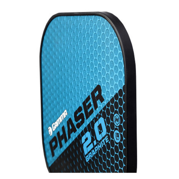 Blue and Black GAMMA Phaser 2.0 Pickleball Paddle angled left